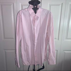 Express:  Fitted Light Pink  Shirt (XL)